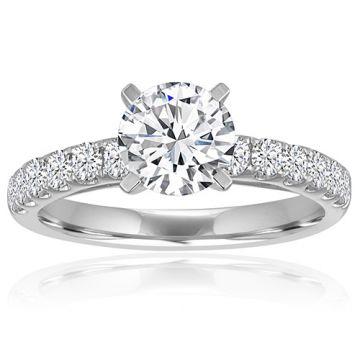 14K White Gold 1/5ct Diamond Engagement Ring