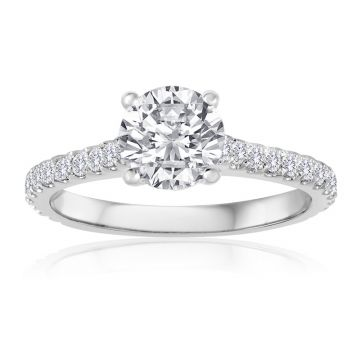 14K White Gold 2/3ct Diamond Engagement Ring