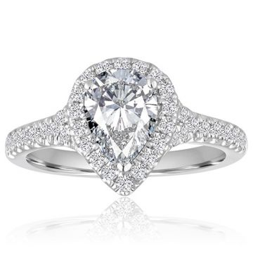 14K White Gold 3/8ct Diamond Engagement Ring