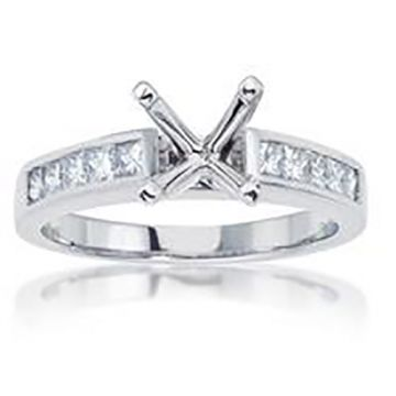 14K White Gold .90ct Diamond Engagement Ring