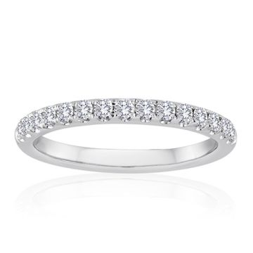 14K White Gold 1ct Diamond Anniversary Band