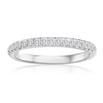 14K White Gold 2/5ct Diamond Anniversary Band