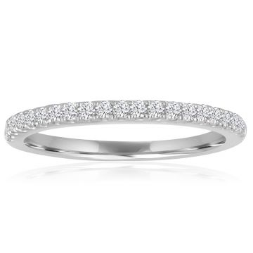 14K White Gold 1/5ct Diamond Anniversary Band