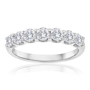 14K White Gold 1/2ct Diamond Anniversary Band