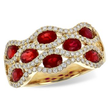 Allison Kaufman 14k Yellow Gold Diamond & Gemstone Ring