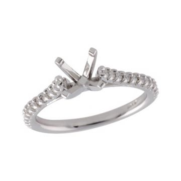 Allison Kaufman 14k White Gold Diamond Straight Semi-Mount Engagement Ring