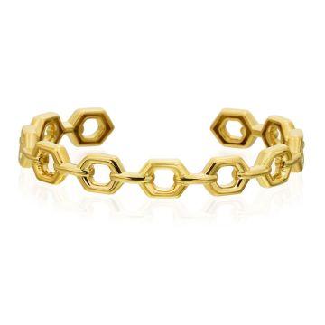 "Gumuchian Honeybee ""B"" 18k Yellow Gold Bangle Bracelet"