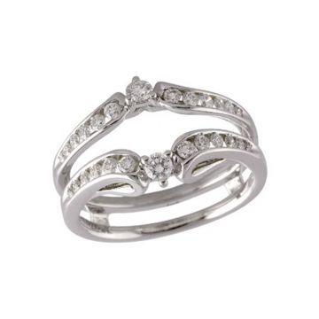 Allison Kaufman 14k White Gold Enhancer & Guard Wedding Band