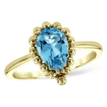 Allison Kaufman 14k Yellow Gold Gemstone Ring