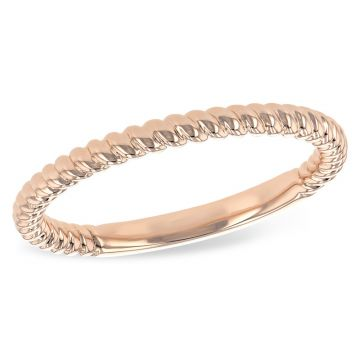 Allison Kaufman 14k Rose Gold Wedding Band
