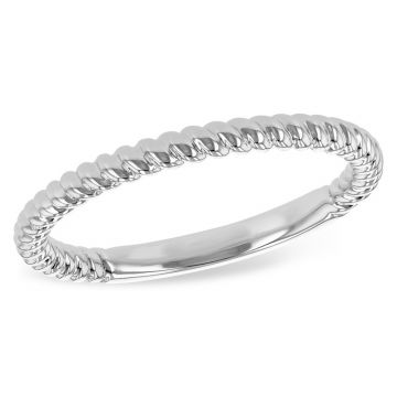 Allison Kaufman 14k White Gold Wedding Band