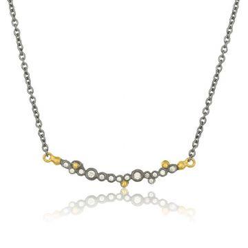 Lika Behar 24k Yellow Gold & Oxidized Silver Diamond Necklace