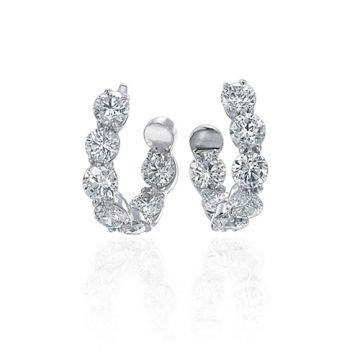 Gumuchian 18k White Gold Diamond Earrings