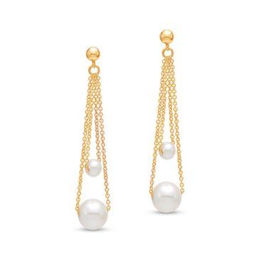 Mastoloni Double Chain Drop Earrings