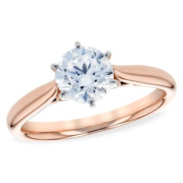 Allison Kaufman 14k Rose Gold Solitaire Semi-Mount Engagement Ring