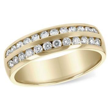Allison Kaufman 14k Yellow Gold Diamond Wedding Band