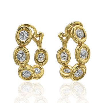 Gumuchian Oasis 18k Yellow Gold Illusion Diamond Hoop Earrings