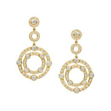 Gumuchian Carousel 18k Gold Diamond Drop Earrings