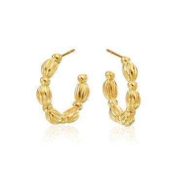 Gumuchian Nutmeg 18k Gold Small Hoop Earrings