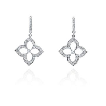Gumuchian G. Boutique 18k White Gold Diamond Lotus Earrings