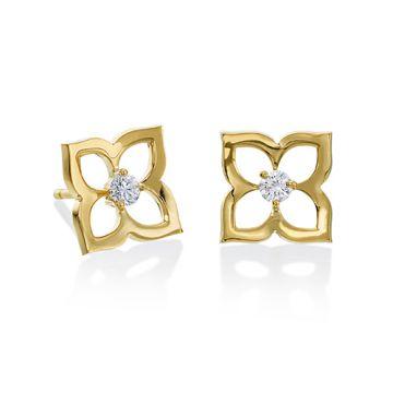 Gumuchian 18k Yellow Gold Open Lotus Earrings