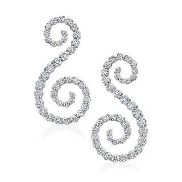 Gumuchian Cascade Riviera 18k White Gold Diamond Symphony Earrings