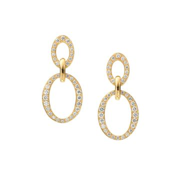 Gumuchian Carousel 18k Gold Double Link Diamond Earrings