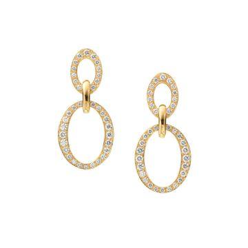 Gumuchian Carousel 18k Gold Double Link Diamond Earrings