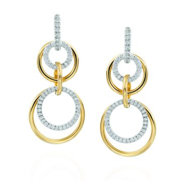 Gumuchian Moon Phase Convertible 18kt gold and diamond Earrings