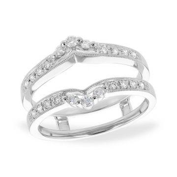 Allison Kaufman 14k White Gold Diamond Enhancer Wedding Band