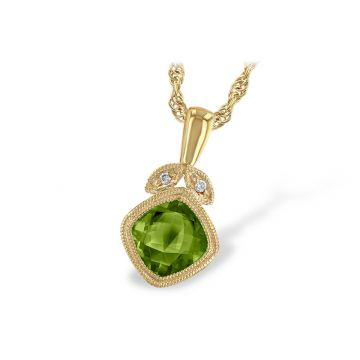 Allison Kaufman 14k Yellow Gold Gemstone & Diamond Necklace