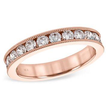 Allison Kaufman 14k Rose Gold Eternity Wedding Band