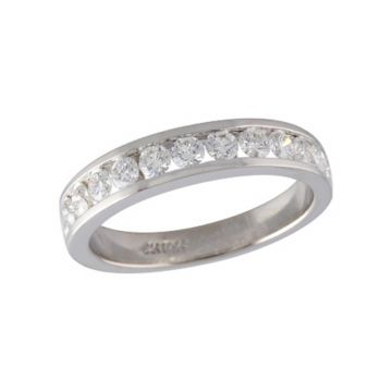 Allison Kaufman 14k White Gold Eternity Wedding Band