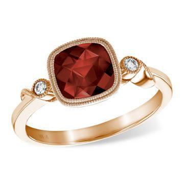 Allison Kaufman 14k Rose Gold Gemstone & Diamond Ring