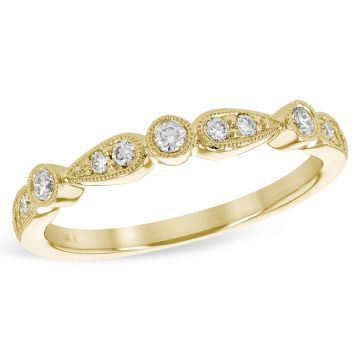Allison Kaufman 14k Yellow Gold Diamond Wedding Band