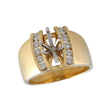 Allison Kaufman 14k Yellow Gold Diamond  Semi-Mount Engagement Ring