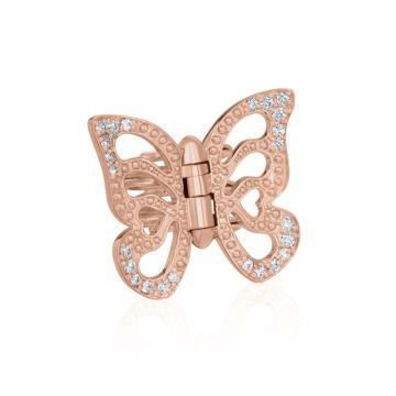Gumuchian Butterfly 18k Rose Gold Hair Jewel