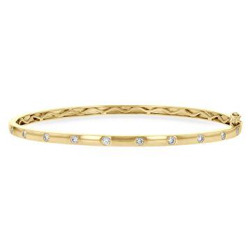 Allison Kaufman 14k Yellow Gold Diamond Bangle Bracelet