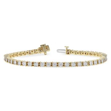 Allison Kaufman 14k Yellow Gold Diamond Tennis Bracelet