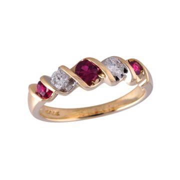Allison Kaufman 14k Yellow Gold Diamond & Gemstone Ring