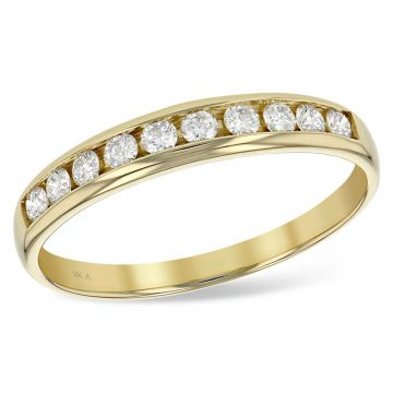 Allison Kaufman 14k Yellow Gold Diamond Anniversary Wedding Band