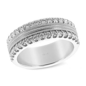 Allison Kaufman 14k White Gold Diamond Wedding Band