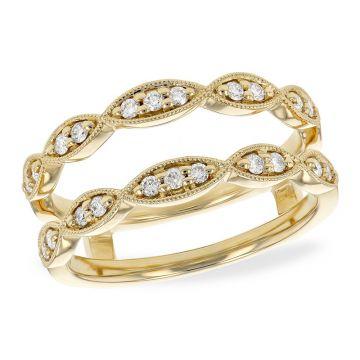 Allison Kaufman 14k Yellow Gold Diamond Enhancer Wedding Band
