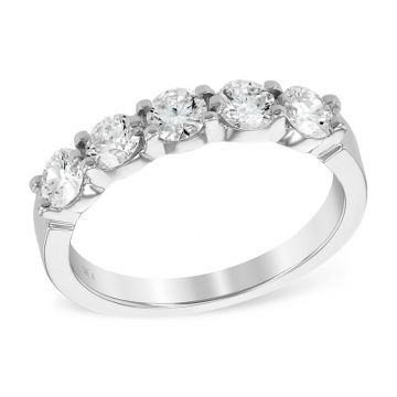 Allison Kaufman 14k White Gold Diamond Anniversary Wedding Band
