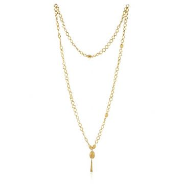 Lika Behar 24k Yellow Gold Diamond and Gemstone Necklace