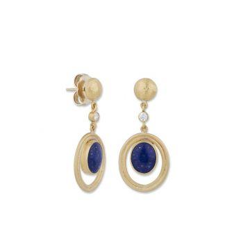 Lika Behar 22k Yellow Gold Diamond and Gemstone Earrings