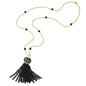 Gumuchian 18k Yellow Gold Tassel Gemstone Necklace