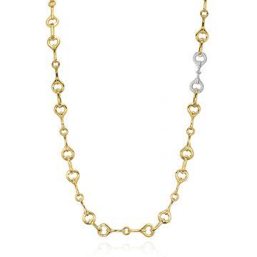 Gumuchian Gallop 18k Two Tone Gold Diamond Necklace