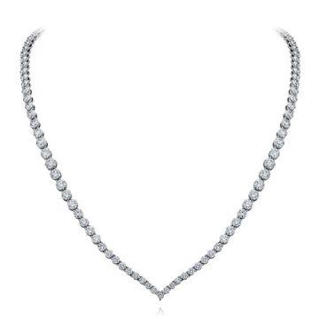 Gumuchian Cascade Riviera Platinum Diamond Necklace