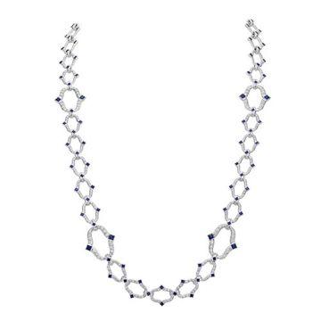 Gumuchian Secret Garden 18k White Gold Diamond & Sapphire Necklace